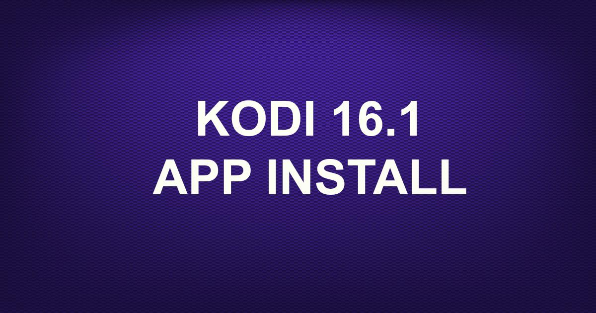 kodi v 16.1 apk download
