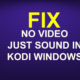NO VIDEO JUST SOUND IN KODI WINDOWS FIX
