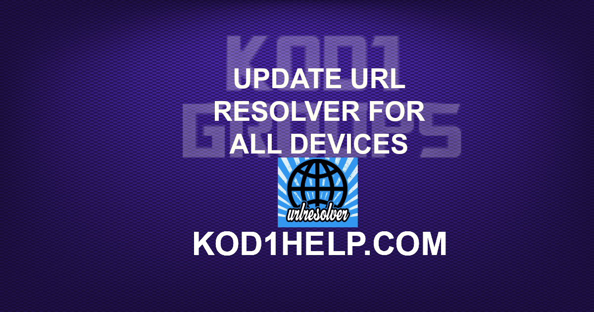UPDATE URL RESOLVER FOR ALL DEVICES -