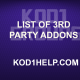 LIST OF 3RD PARTY ADDONS