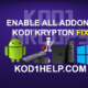 ENABLE ALL ADDONS KODI KRYPTON FIX