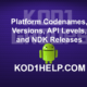 Platform Codenames Versions API Levels and NDK Releases