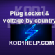 Plug socket & voltage by country