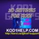 3D SETTINGS FOR KODI