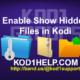 Enable Show Hidden Files in Kodi