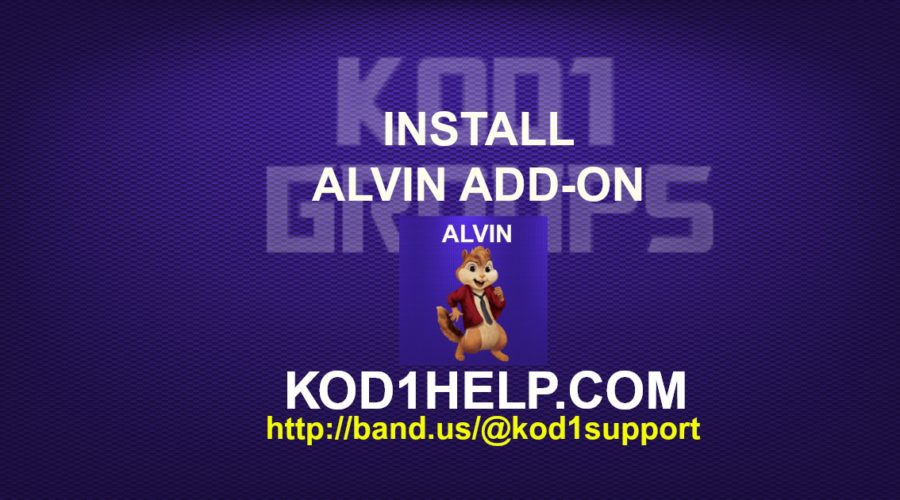 INSTALL ALVIN ADD-ON -