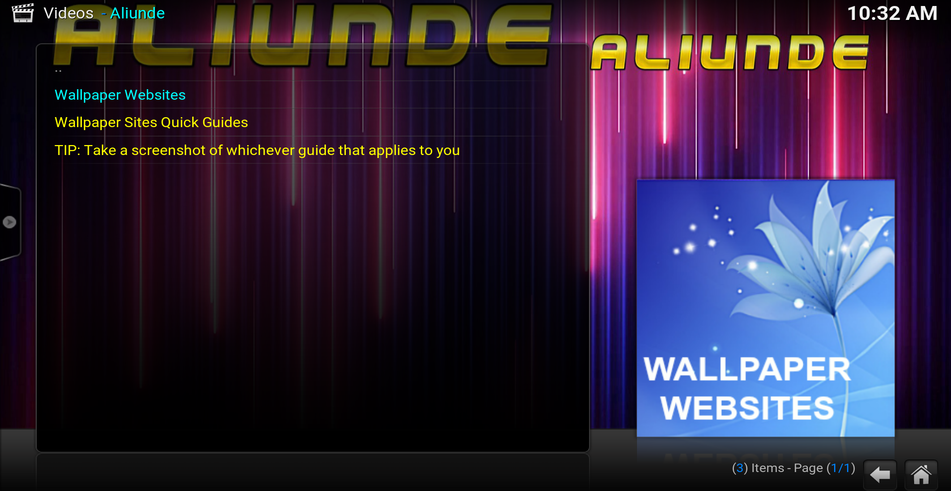 aliunde wallpapers for kodi